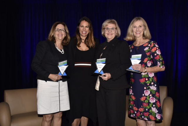 Celebrating Women in Sports - Community Sports Leadership Award Winners Maribeth Bisienere, Linda Landman Gonzalez and Joanie Schirm with ESPN MLB Analyst Jessica Mendoza in Orlando, Florida