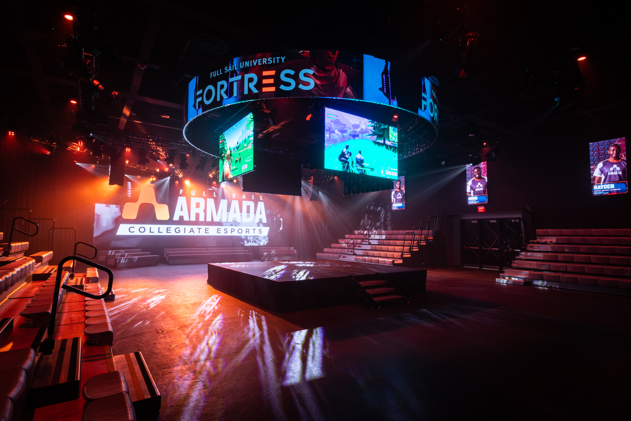 The Fortress at Full Sail University Esports Arena
