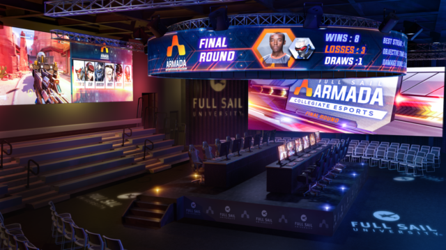 Rendering of The Fortress, currently under construction at Full Sail University. Largest on-campus eSports specific venue in the U.S.