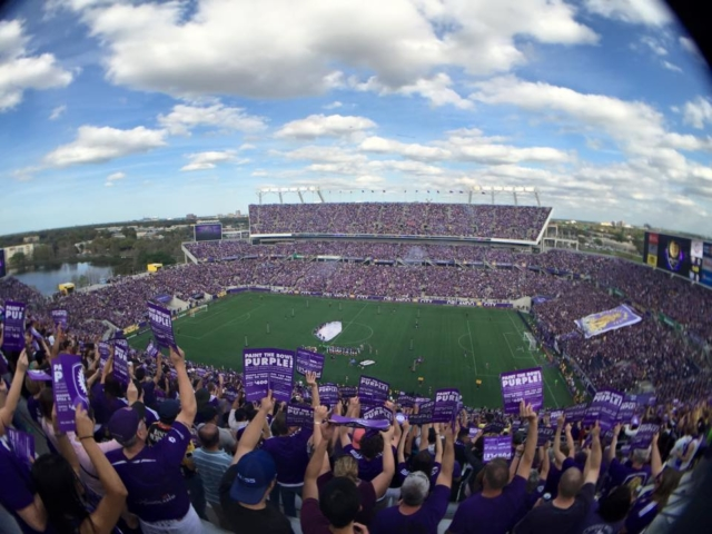 Orlando City Major League Soccer Debut vs NYCFC Citrus Bowl sold out crowd
