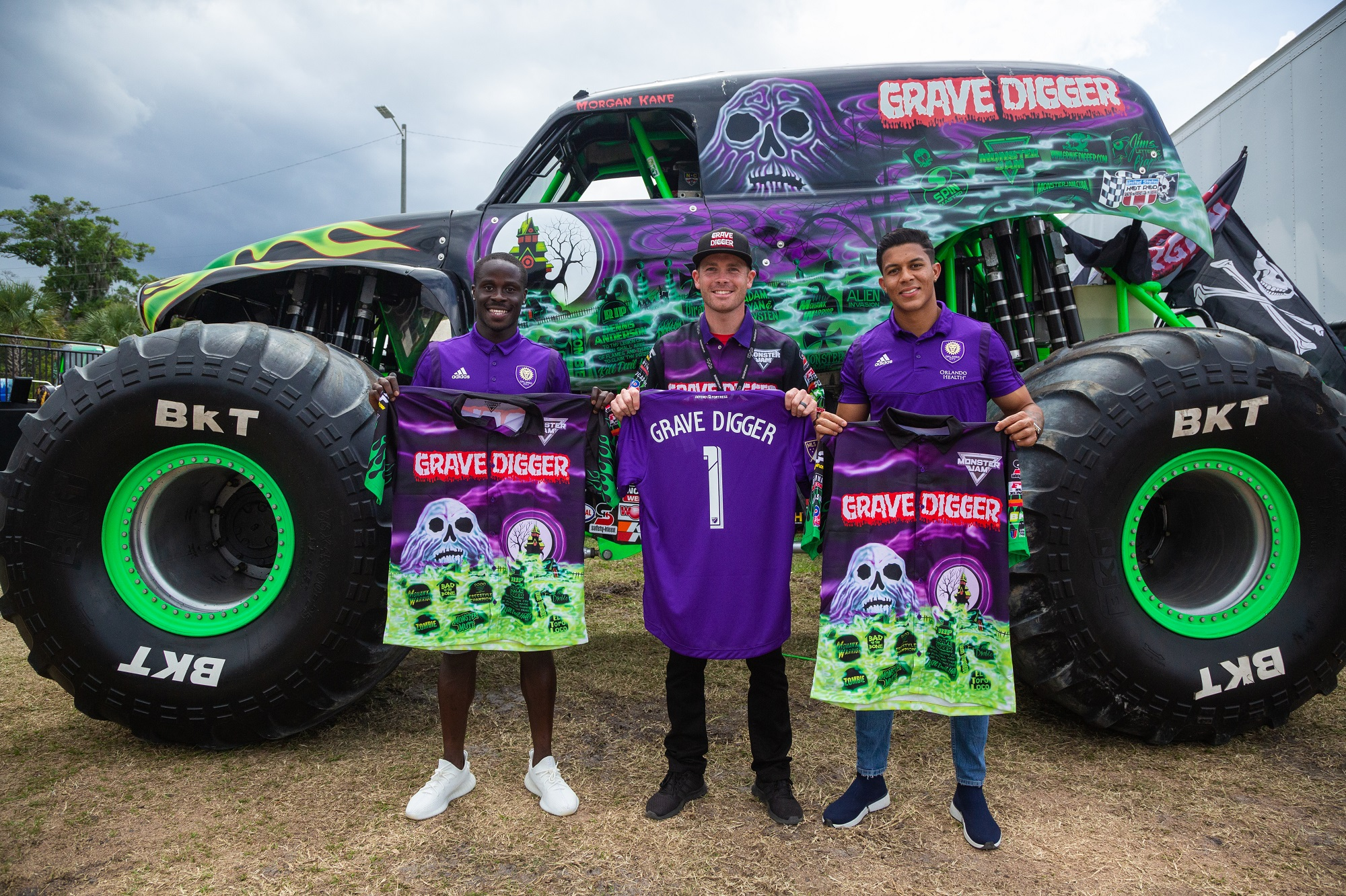 Benji Michel, Santiago Patino, Morgan Kane, Monster Jam World Finals Gravedigger