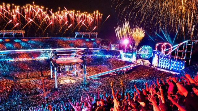 WWE WrestleMania 33 Fireworks at Camping World Stadium in Orlando, Florida