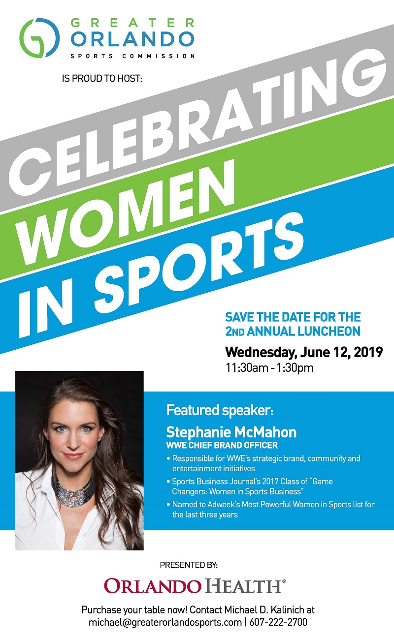 2019 CELEBRATING WOMEN IN SPORTS SAVE THE DATE